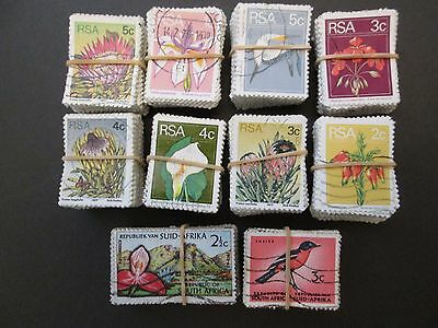 SOUTH AFRICA X 1000 USED STAMPS aprox. 10 BUNDLES X 100.  SALE LOT.  #T003