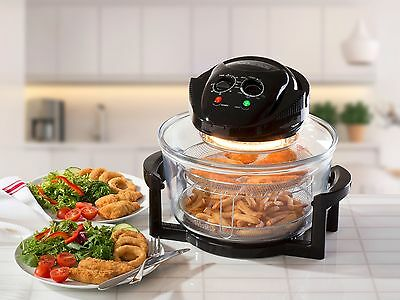 2 in 1 Air Fryer Halogen Oven Black