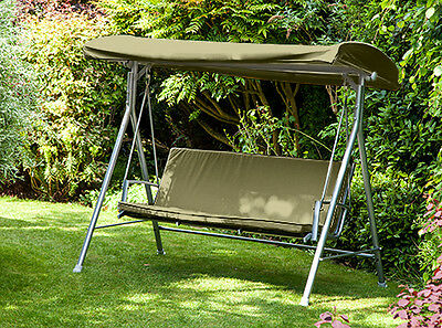 Olive Replacement 3 Seater Canopy Garden Patio Swing Bench Cushion Seat Backrest