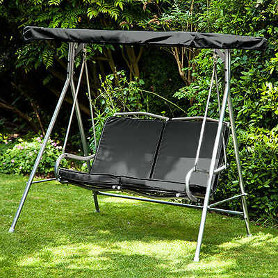 Black Replacement Cushion for Argos Malibu 2 Seater Swing Seat Hammock Chair