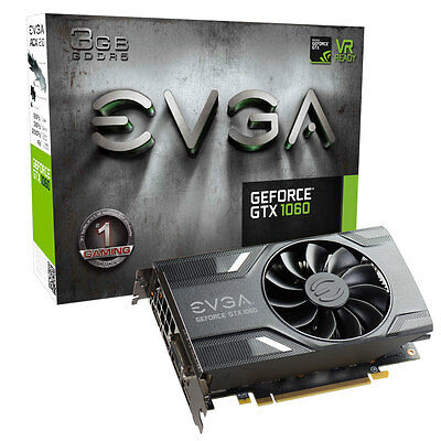 EVGA GeForce GTX 1060 3GB 3G Single Fan mining ethereum bitcoin 03G-P4-6162KR