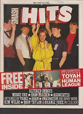 SMASH HITS vol 4 no 6 MAGAZINE 18 MARCH 1982 ALTERED IMAGES * PLUS GIANT POSTER