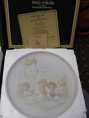 Presious Moments Collectors plates 4 new Plates in Boxes