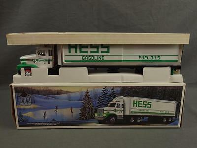 Vtg 1987 Hess Toy Truck Bank Tractor Trailer Truck Complete NIB