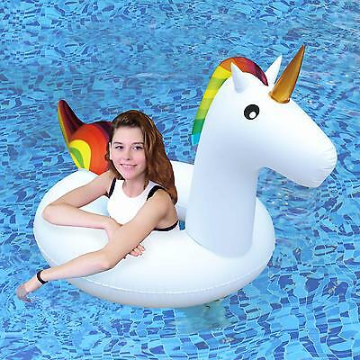 Unicorn Large Inflatable Pool Rubber Ring Tyre Beach Float Tube Childrens/Adults