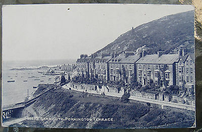 Postcard. Barmouth, Porkington Terrace.. Wales. Unused. Blue. e3