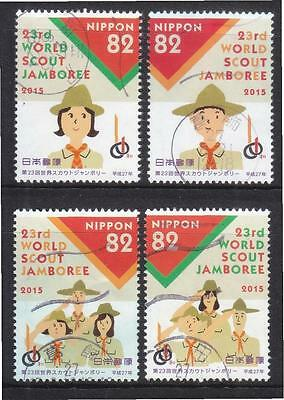 Japan 2015 World Scouts Jamboree Comp. Set Of 4 Stamps In Fine Used Condition