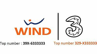 2x Top Number Wind e Tre  : 329-X333333 && 39X/6333333