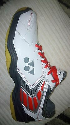 Yonex SHB-46 EX Badminton Shoes White/Red UK 11 Trainers White/Red