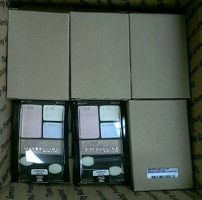 Mixed Wholesale Lot of 50 Maybelline Expert Wear Eyeshadow Quads