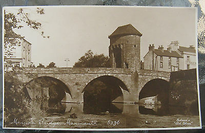 Postcard. Monnow Bridge. Wales. Unused. Sepia. e3