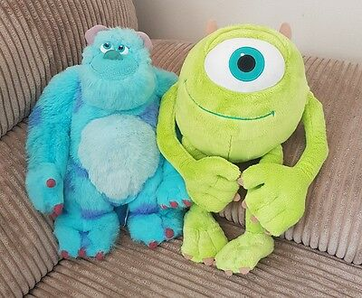 Disney Pixar Monster's Inc University Mike and Sulley Soft Plush Toys