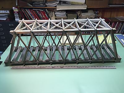 Custom Built wooden through Truss Bridge as shown