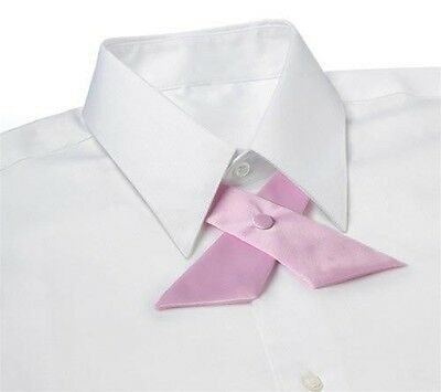 PINK Satin Crossover Tie
