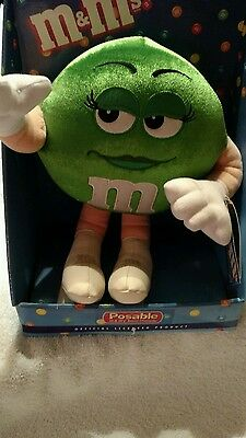 M&M's Green Posable Plush Character