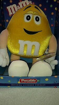 M&M's Yellow Posable Plush Character