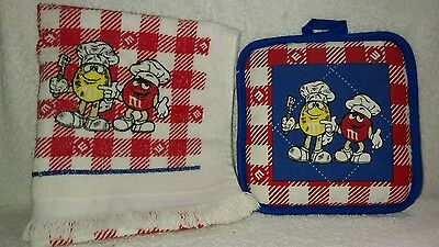 M&M's Pot Holder and Dish Towel