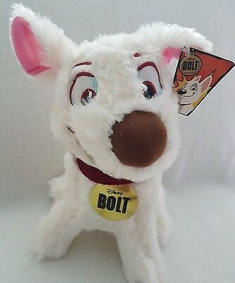 "Disney Store New 12"" Bolt The Dog Plush Soft Toy- New With Tags"