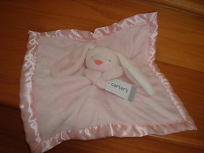 NEW Carter's Bunny Rabbit Baby Security Pink Lovey Plush Cuddle Blanket FREE SH