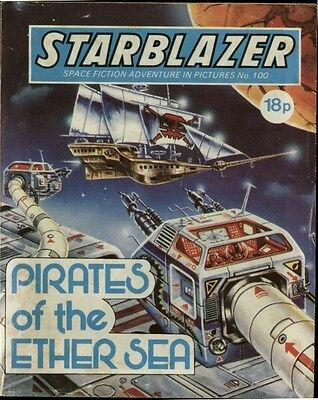 Pirates Of The Ether Sea,starblazer Space Fiction Adventure Pictures,no.100,1983