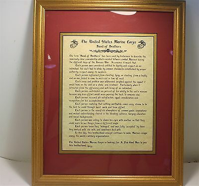Marine Corps Framed Marine Corps  Band Of Brothers Legend