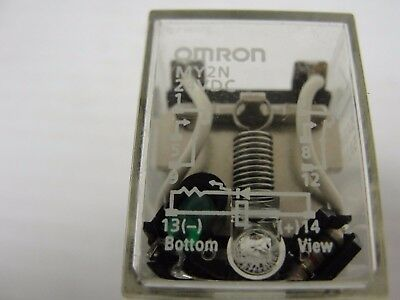 Omron Relay, MY2N 5 AMP Contact, 24VDC Coil, DPDT (Lot of 11) $88.00 ($8.00 ea).