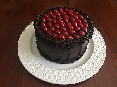Fake Cake, Prop cake - Chocolate Topped With Cherries.