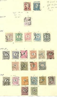 Hungary page of 1870s - 1890s used stamps