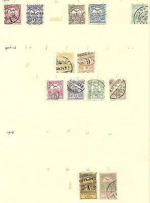Hungary 1900 - 1915  2 pages of used stamps