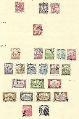 Hungary 1916 - 1920 3 pages of used stamps