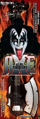 Gene Simmons Kiss Wireless Axe Guitar Controller For Ps2 Ps3 Nintendo Wii New