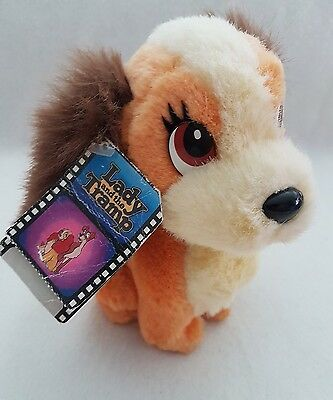 """Lady and the Tramp - Plush Soft Toy Disneyland 6"""" with tags"""