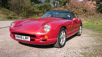 TVR Chimaera 400 1998 R 51k miles Rosso Red Pearl with Grey leather & Black hood
