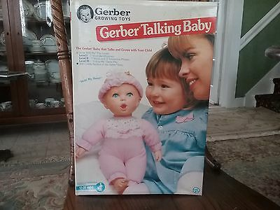 Gerber Talking Baby Doll New in Box Vintage