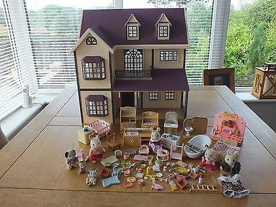 Sylvanian Families Oakwood Manor House On The Hill Furniture Calico Critters