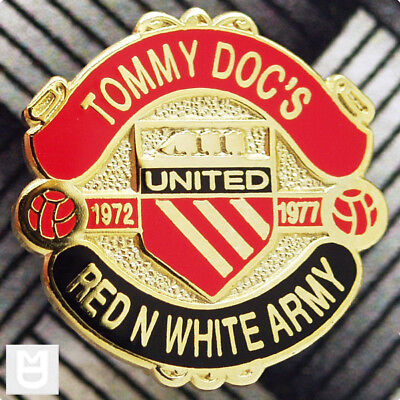 Tommy Docs Red N White Army Pin Badge Rb