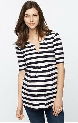 Isabella Oliver Baywood Striped Maternity Top Size 3 (10-12)