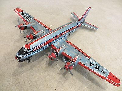 RARE 1950s Asahitoy Northwest  Friction Airplane - Fully Functioning & Complete