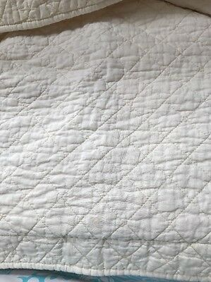Quilted Shams Cream Color Two
