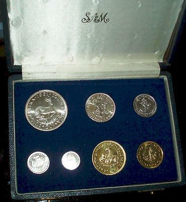 1961 South Africa SILVER Proof Set in Original Presentation Case. Very nice set.
