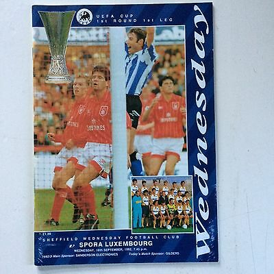 Sheffield Wednesday v Spora Luxembourg 1992-93 (UEFA Cup R1)