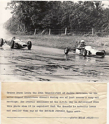 Graham Brown Leads The 1964 Crossle-Ford Of Jackie Davidson Period Photograph.