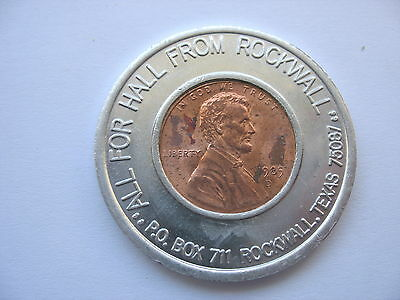 Lincoln Encased Cents - Ralph Hall - Us Congress - United States Politics - Pair