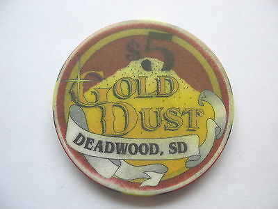 GOLD DUST CASINO  $5.00 CHIP - DEADWOOD - ISSUED for 1998 STURGIS RALLY