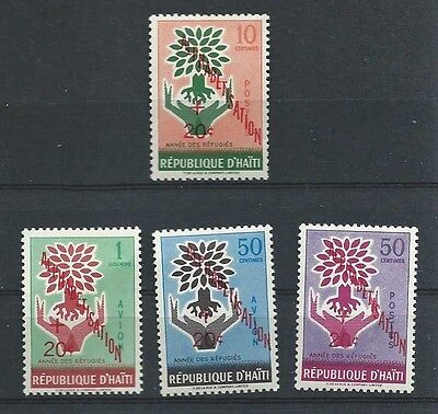 Haiti,un,world Refugee Year , Set Of 4,charity Issue, New Colors &o.p. & R.v.mnh