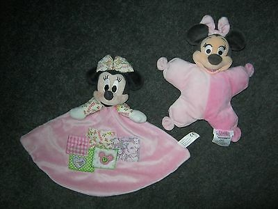Disney Minnie Mouse Pink Comforter Blanket And Soft Toy.