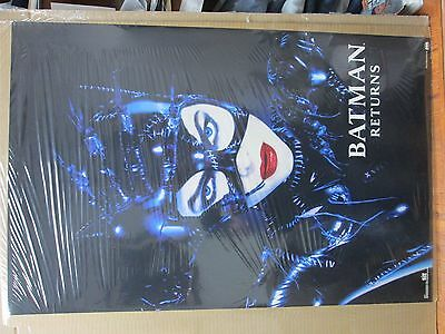 vintage 1992 Batman Returns original movie DC Comics poster Cat woman 12133