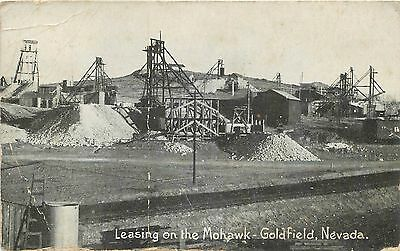 Leasing On The Mohawk Goldfield NV Nevada Postcard 1910s