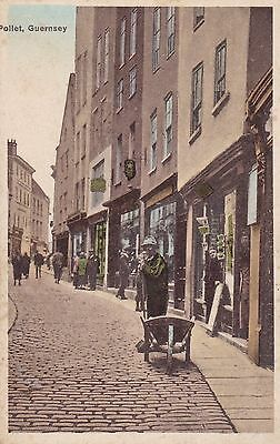 Guernsey -  Colour Postcard - Pollet - Man With Wheelbarrow