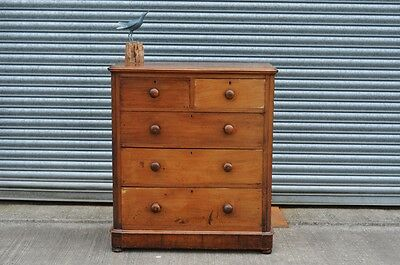 Antique Mahogany Chest Of Drawers 2 over 3.